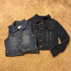 Denim jacket and vest set!